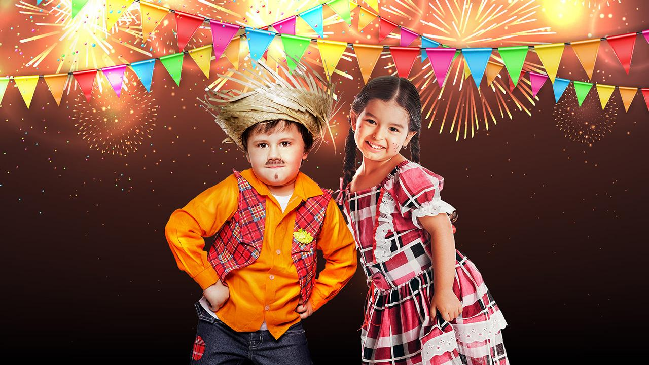 children dressed in june party clothes