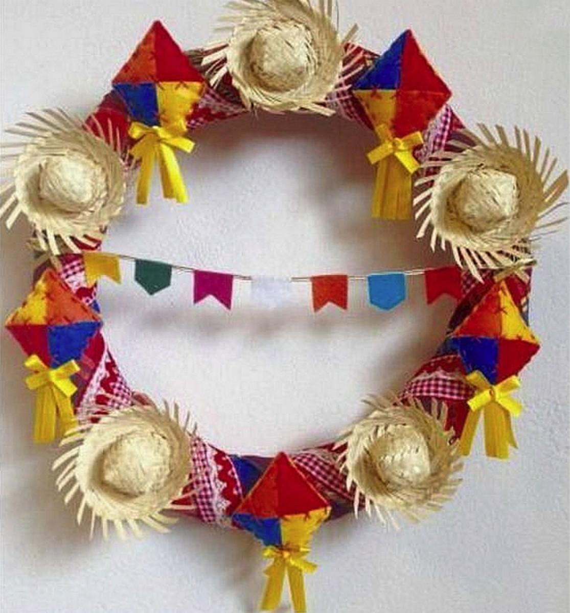Garlands decorated as june party ornaments