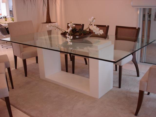 Glass table with different support