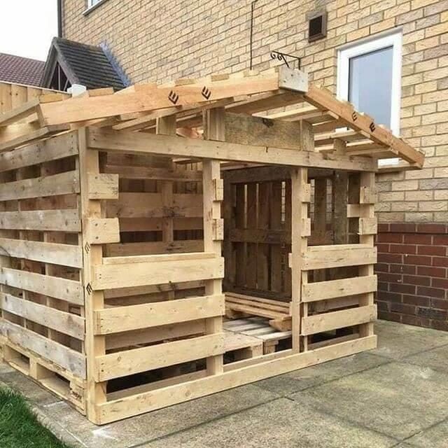 house with pallet
