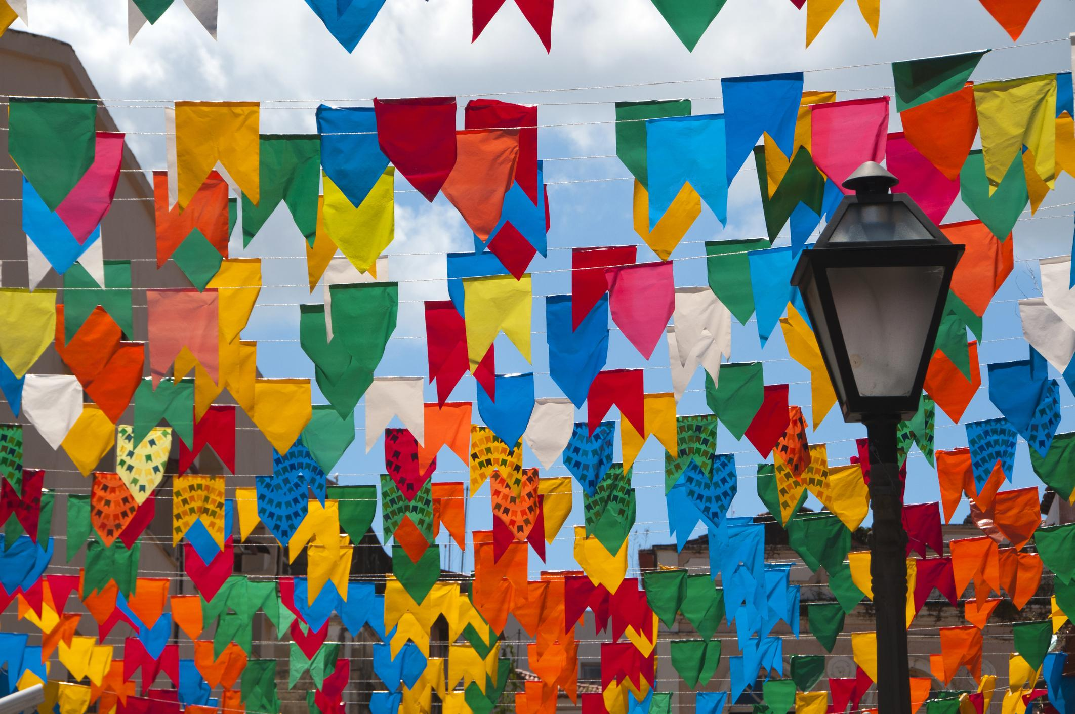 junina party decorations - little flags