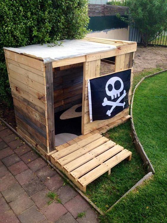 Pirate fort made from pallet
