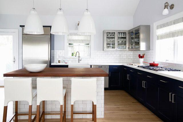 Subway tiles on the kitchen counter