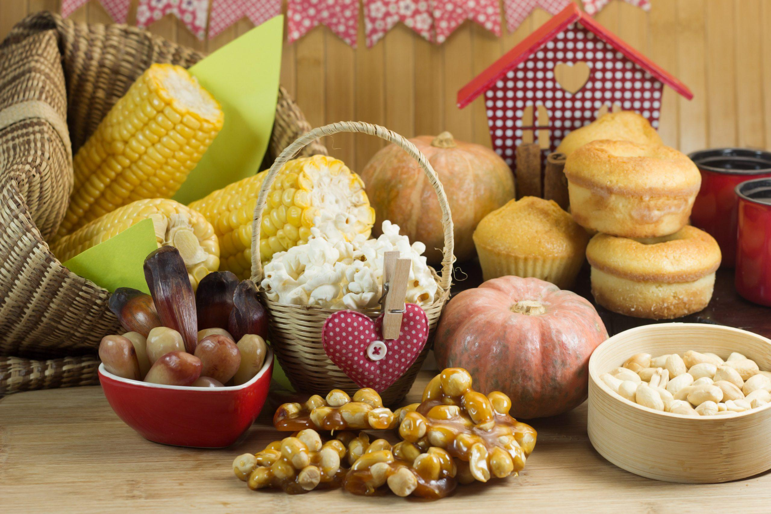 typical foods can serve as decorations for the June party